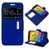 Funda COOL Flip Cover para Alcatel A3 Liso Azul
