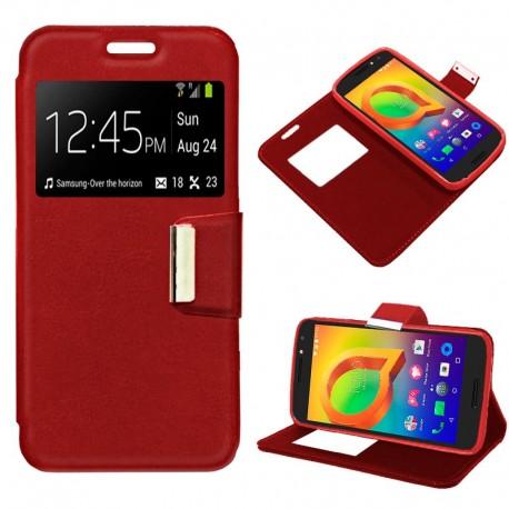 Funda COOL Flip Cover para Alcatel A3 Liso Rojo