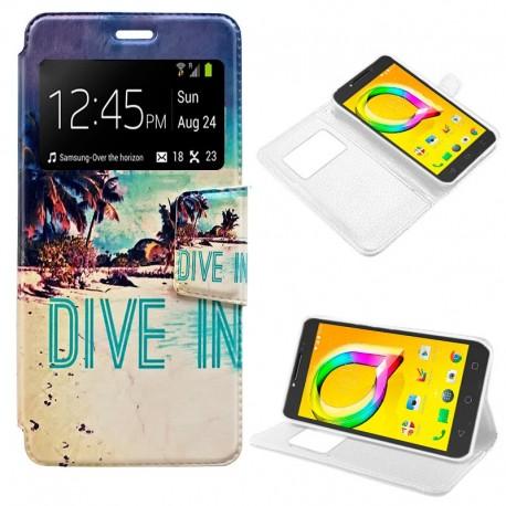 Funda COOL Flip Cover para Alcatel A5 Led Dibujos Beach