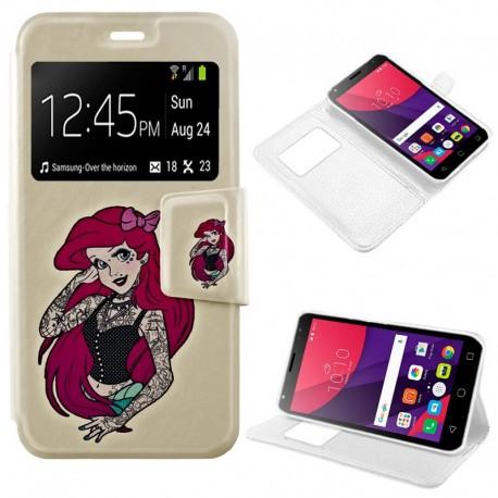 Funda COOL Flip Cover para Alcatel Pixi 4 (5) 3G Dibujos Girl