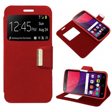 Funda COOL Flip Cover para Alcatel Pixi 4 (5) 3G Liso Rojo