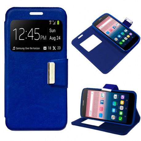Funda COOL Flip Cover para Alcatel Pop Up Liso Azul