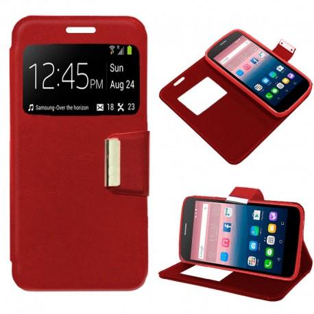 Funda COOL Flip Cover para Alcatel Pop Up Liso Rojo