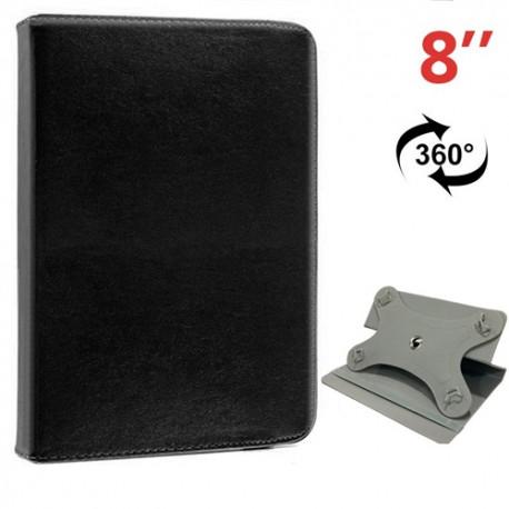 Funda COOL Ebook / Tablet 8 pulgadas Liso Negro Giratoria