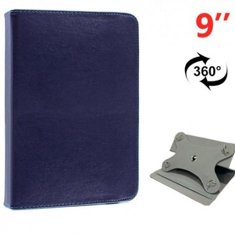 Funda COOL Ebook / Tablet 9 pulg Liso Azul Giratoria