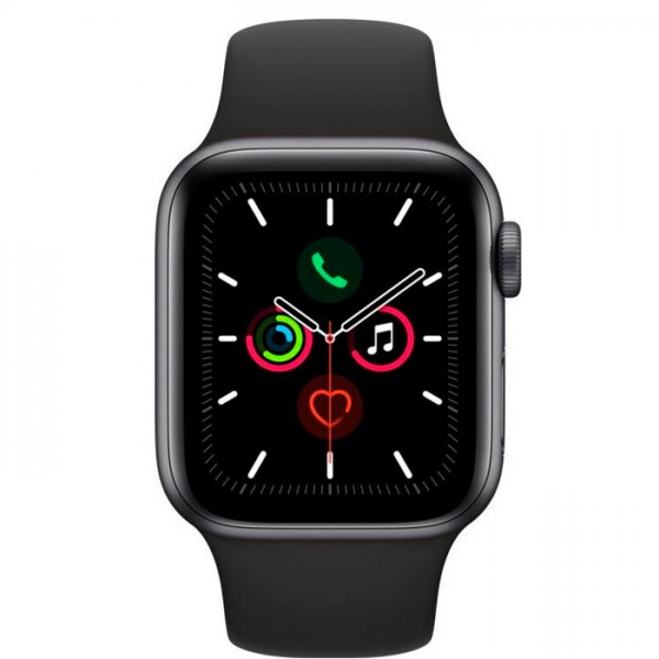 Apple Watch Series 5 32GB Space Gray Alu cas 40mm black sport band