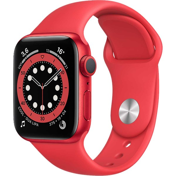 Apple Watch 6 44mm red with regular Sport Band