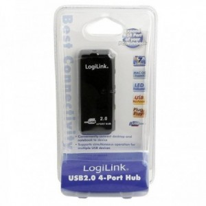 HUB 4 PUERTOS USB 2.0 LOGILINK UH0001A
