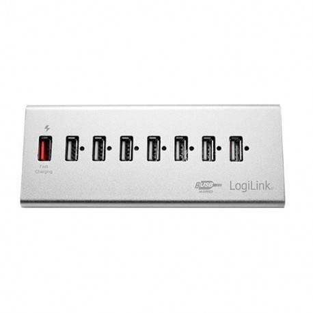 HUB 7 PUERTOS USB2.0+1CARGA RAPIDA LOGILINK UA0225