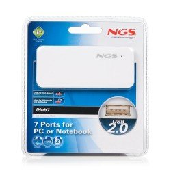 HUB 7 PUERTOS USB 2.0 NGS IHUB 7 BLANCO